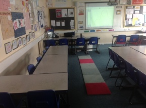 Carpet for distance time investigation