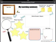 Learning summary sheet